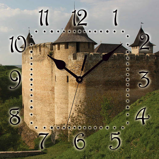 """Настенные часы 300Х300Х16мм """"ХОТИН"""" [МДФ, Открытые]"""