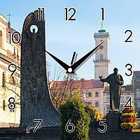 """Настенные часы 300Х300Х16мм """"ЛЬВОВ"""" [МДФ, Открытые]"""