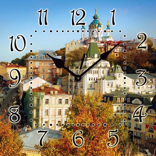 """Настенные часы 300Х300Х16мм """"КИЕВ"""" [МДФ, Открытые]"""