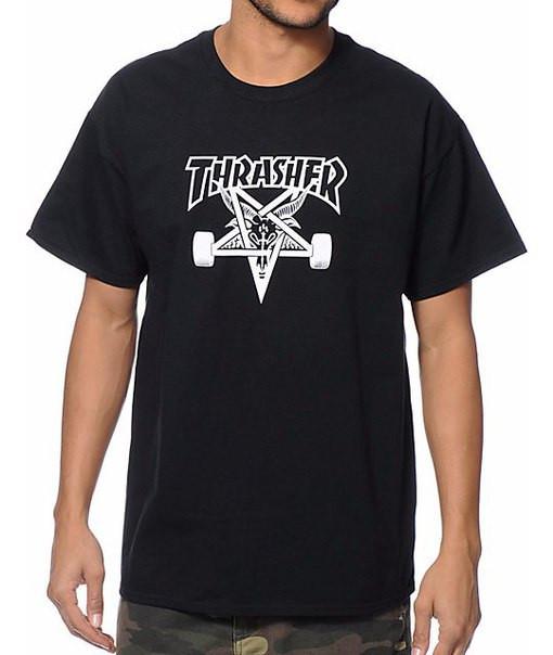 Футболка для скейтбордистов с принтом Thrasher Skategoat