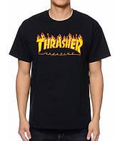 Футболка с принтом Thrasher Flame мужская Легендарная