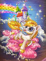 Картина из пайеток Пони небесный замок