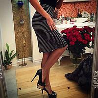 Стильная женская  юбка в полоску
