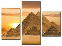 """Модульная картина из 3-х частей """"Пирамиды"""""""