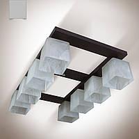 Люстра 8 ламповая, деревянная для большой комнаты,зала, спальни, кухни, прихожей