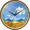 """Настенные часы 300Х300Х45мм """"Флаг Украины"""" [Пластик, Под стеклом]"""
