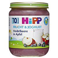 HiPP Bio Frucht & Joghurt Heidelbeere in Apfel - Голубика в яблоке с йогуртом, с 10 месяца, 160 г