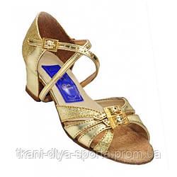 Туфли для танцев детские (цвет: золото)