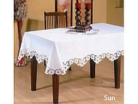 Скатерть Kayaoglu Sun белая 160*300см