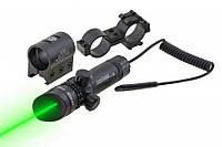 Лазерний цеуказатель ЛЦУ JG1/3G, зелений промінь, кріплення 21мм, приціли, цілевказівники