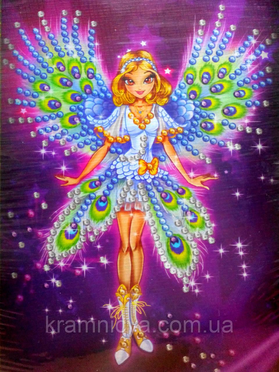 Картина из пайеток Волшебница-фея (Пм-04-03)