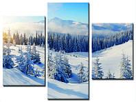 """Модульная картина из 3-х частей """"Снежные вершины"""""""