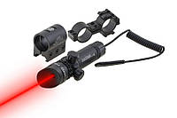 Лазерный прицел ЛЦУ JG1/3R, целеуказатель, крепления Вивера и на прицел, красный луч, для охоты