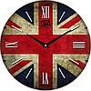 "Настенные часы 330Х330Х30мм ""Флаг Великобритании"" [МДФ, Открытые]"