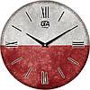 """Настенные часы 330Х330Х30мм """"Флаг Польши"""" [МДФ, Открытые]"""