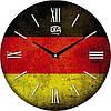 """Настенные часы 330Х330Х30мм """"Флаг Германии"""" [МДФ, Открытые]"""