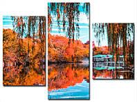 "Модульная картина из 3-х частей ""Парк. Осень"""
