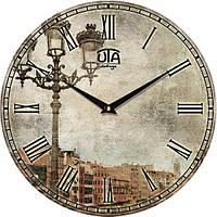 Часы настенные винтаж 330Х330Х30мм [МДФ] UTA-040-VP серые