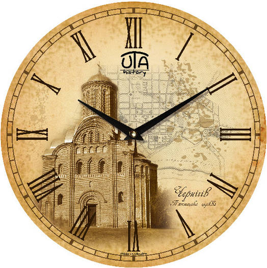 """Настенные часы 330Х330Х30мм """"ЧЕРНИГОВ"""" [МДФ, Открытые]"""