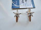 Золотые сережки ЗВЕЗДОЧКИ- 4.65 грамма Золото 585 пробы, фото 2