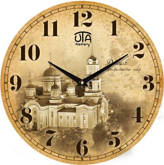 """Настенные часы 330Х330Х30мм """"ДОНЕЦК"""" [МДФ, Открытые]"""
