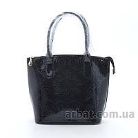 Avorio Женская сумка 68702 цветок черная