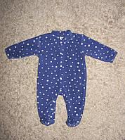 Комбинезон синий в звездочку 62-68