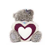 Мишка Тедди MTY с бело-малиновым сердцем