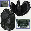 """Молодежный рюкзак Josef Otten """"Black"""", 3 отделения, отд. для ноутбука, органайзер"""