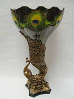 Фарфоровая ваза павлин
