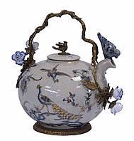 Фарфорово-бронзовый чайник