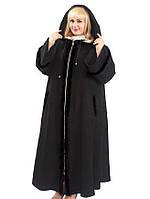 Кашемировое пальто большого размера с мехом, на молнии