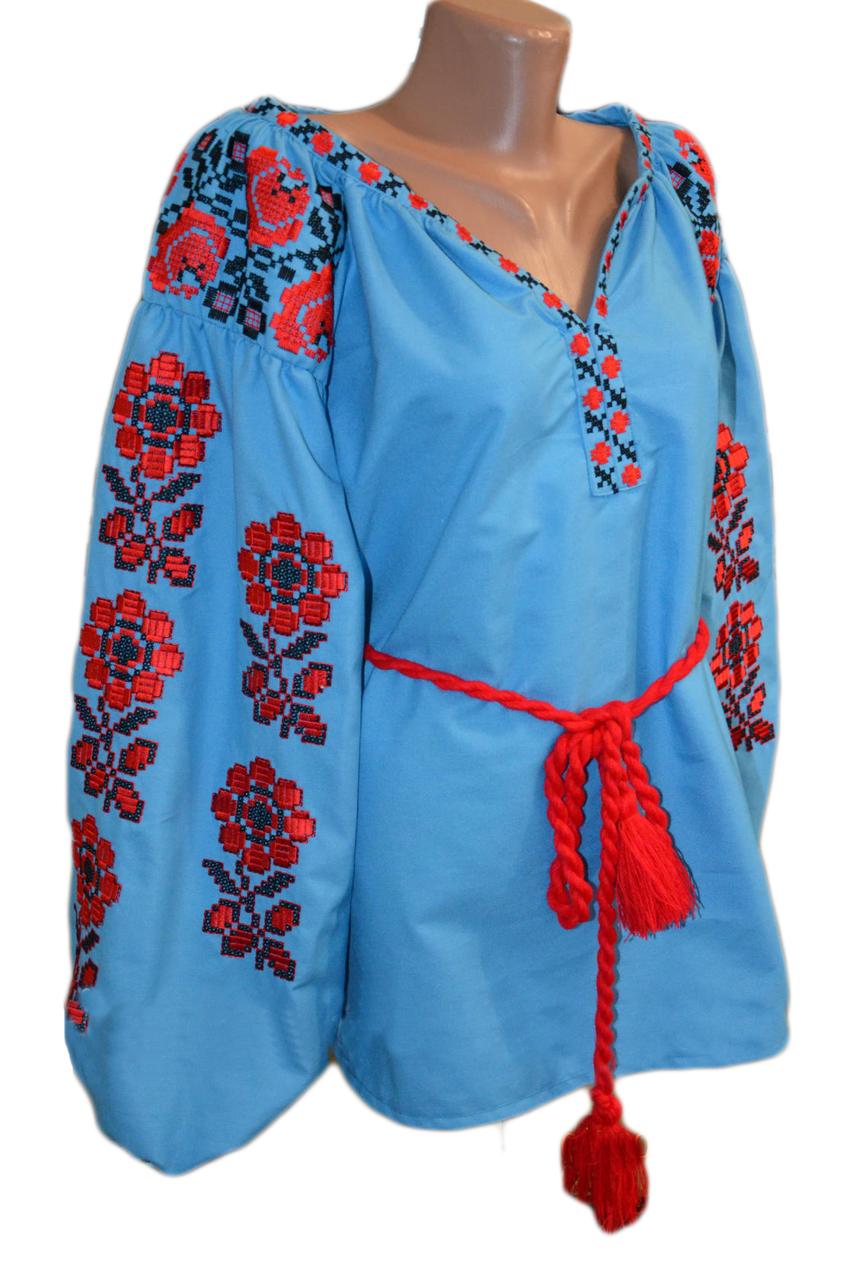 """Женская вышитая рубашка """"Мейбель"""" BR-0001"""