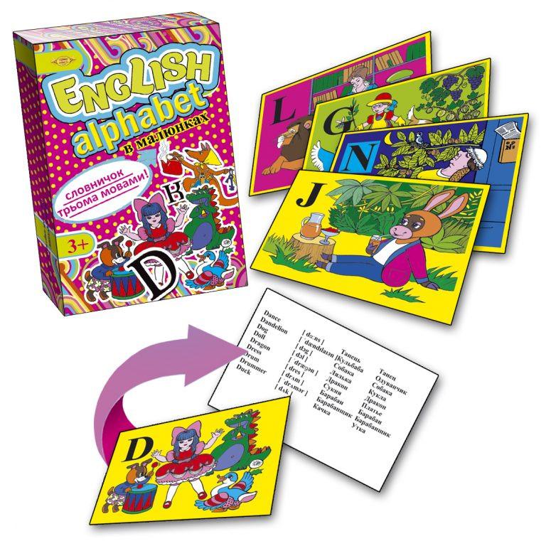 Игра Мастер ENGLISH ALPHABET (Английская азбука) в картинках (МКА0001)
