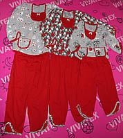 Пижама для девочек Два кармана кулир