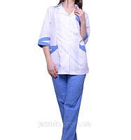 Медицинский костюм  с брюками, фото 1