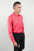 Рубашка мужская нарядная, атласная полоска Fra №878-72 (Коралловый)