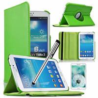 Зеленый чехол для Galaxy Tab 3 8.0  на поворотном кольце