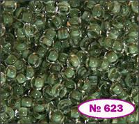 Бисер №10 серо-зеленый