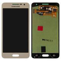 Дисплей для мобильных телефонов Samsung A300F Galaxy A3, A300FU Galaxy A3, A300H Galaxy A3; Samsung, золотистый, с сенсорным экраном, original (PRC)