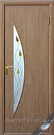 Модерн двери Луна стекло с рисунком (Беленый Дуб)