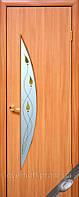 Модерн двери Луна стекло с рисунком (Ольха)