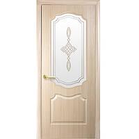 Межкомнатные двери Новый стиль Фортис De Luxe V стекло (Ясень)