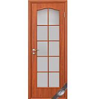 Новый стиль ПВХ двери Фортис витраж (Вишня)