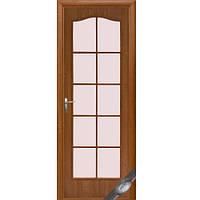 Новый стиль ПВХ двери Фортис витраж (Ольха)