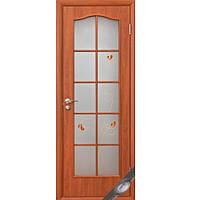Дверь Фортис витраж с рисунком (Вишня)