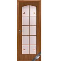 Дверь Фортис витраж с рисунком (Ольха)