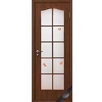 Дверь Фортис витраж с рисунком (Орех)