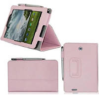 Светло-розовый чехол для ASUS FonePad ME371 MG из синтетической кожи.