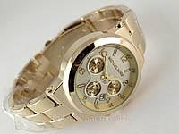 Часы женские в стиле Michael Kors светлый циферблат, корпус цвета золото, фото 1
